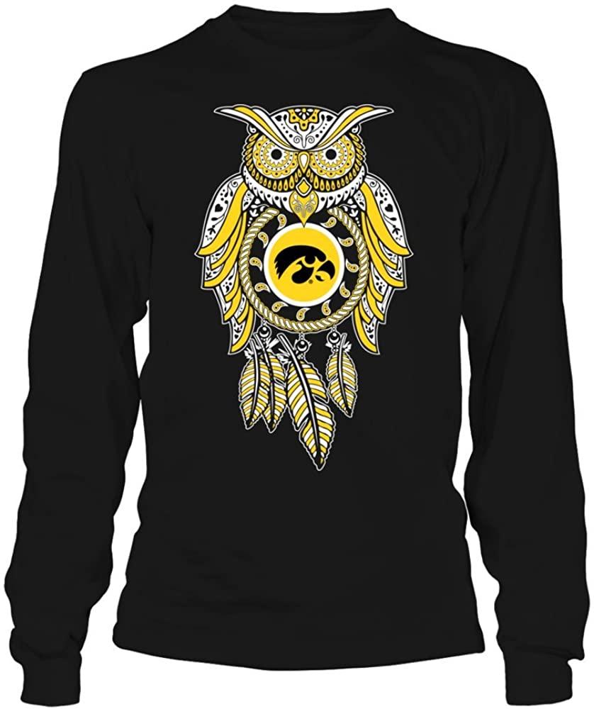 FanPrint Iowa Hawkeyes Sweatshirt - Sugar Skull Owl