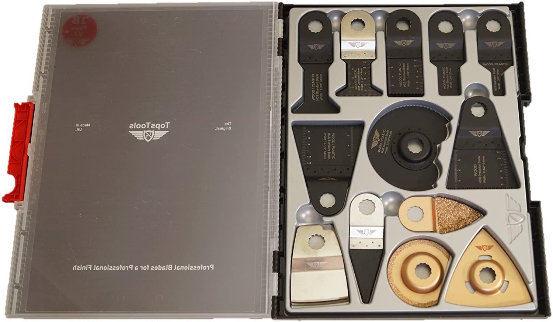 25 x TopsTools SW_WXK25 OMT Mix Blades Box Set for Rockwell F30 F50 F80 Sonicrafter AEG Ryobi Worx Multitool Multi Tool Accessories