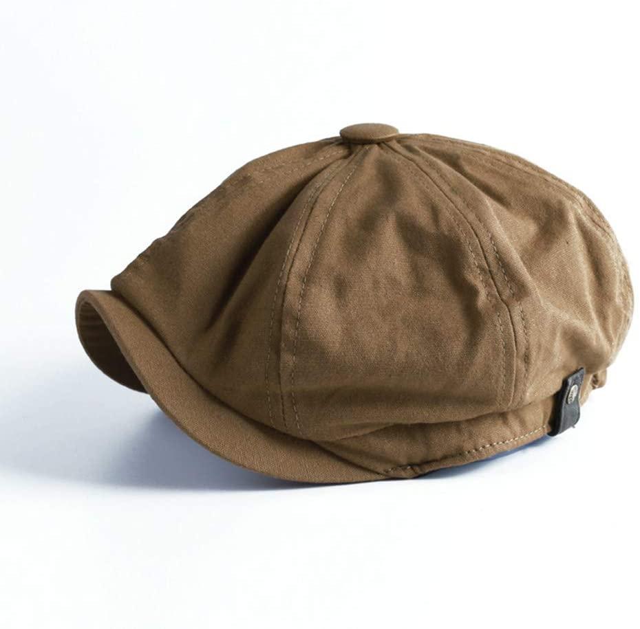 Liveday Men Winter Newsboy Cap Herringbone Baker Boy Cabbie Flat Hat Retro Newsboy Cap