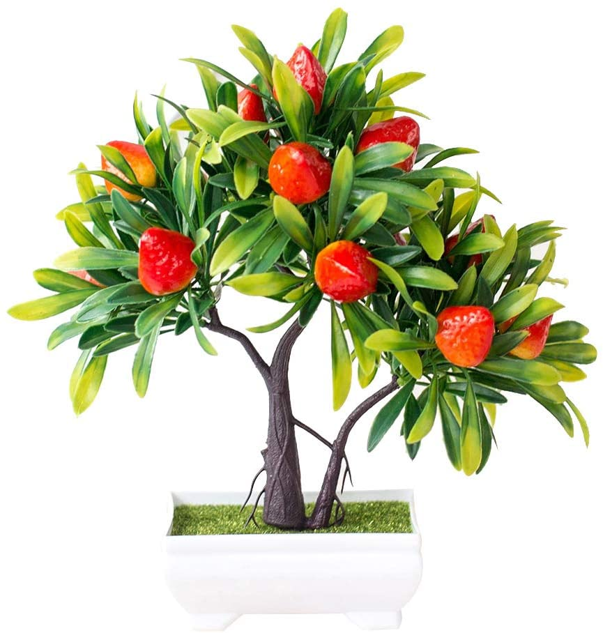 heaven2017 Artificial Fruit Strawberry Tree Bonsai Desktop Ornaments Strawberry