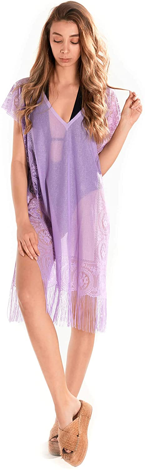 INGODI Women's Beachwear Dress Beach Cover Up Swimsuit Summer Bikini Swimwear Cover-up Pareo Beach Dress
