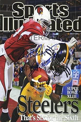 Santonio Holmes Sports Illustrated Autograph Replica Poster - Champs!