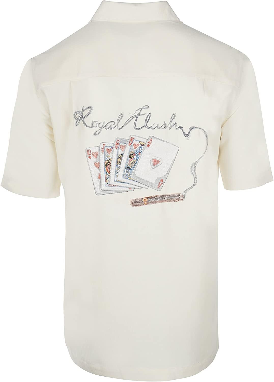 Weekender Men's Royal Flush Gambling Embroidered Shirt