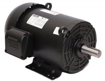 WEG Electric 00312ET3H213T-S, 3HP, 1200 RPM, 3PH, 575V, 213/5T Frame, Standard Flange,Foot Mount, TEFC, General Purpose Motor