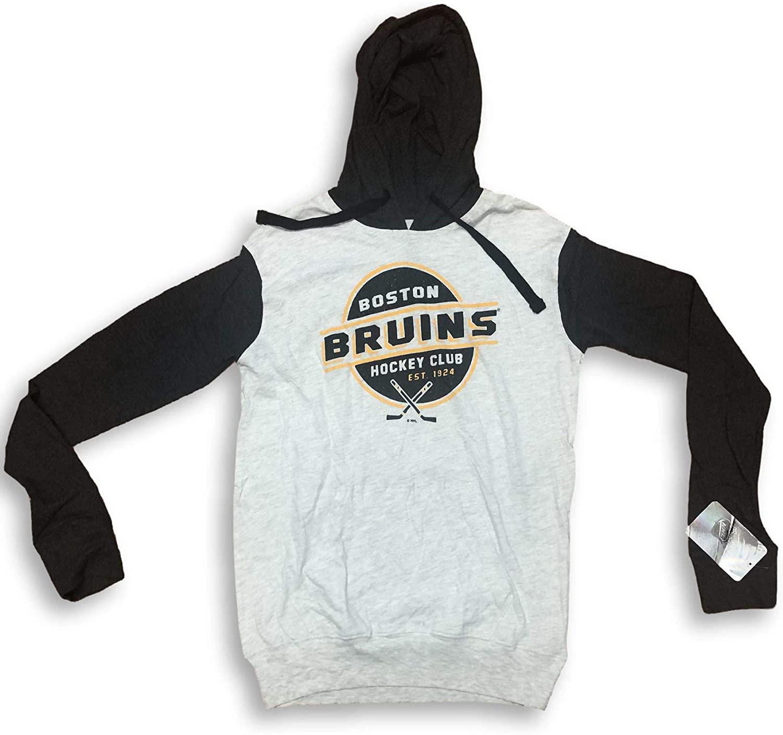 OTS Boston Bruins Est 1924 Long Sleeve Lightweight Hooded Sweatshirt