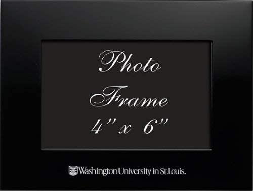 LXG, Inc. Washington University in St. Louis - 4x6 Brushed Metal Picture Frame - Black