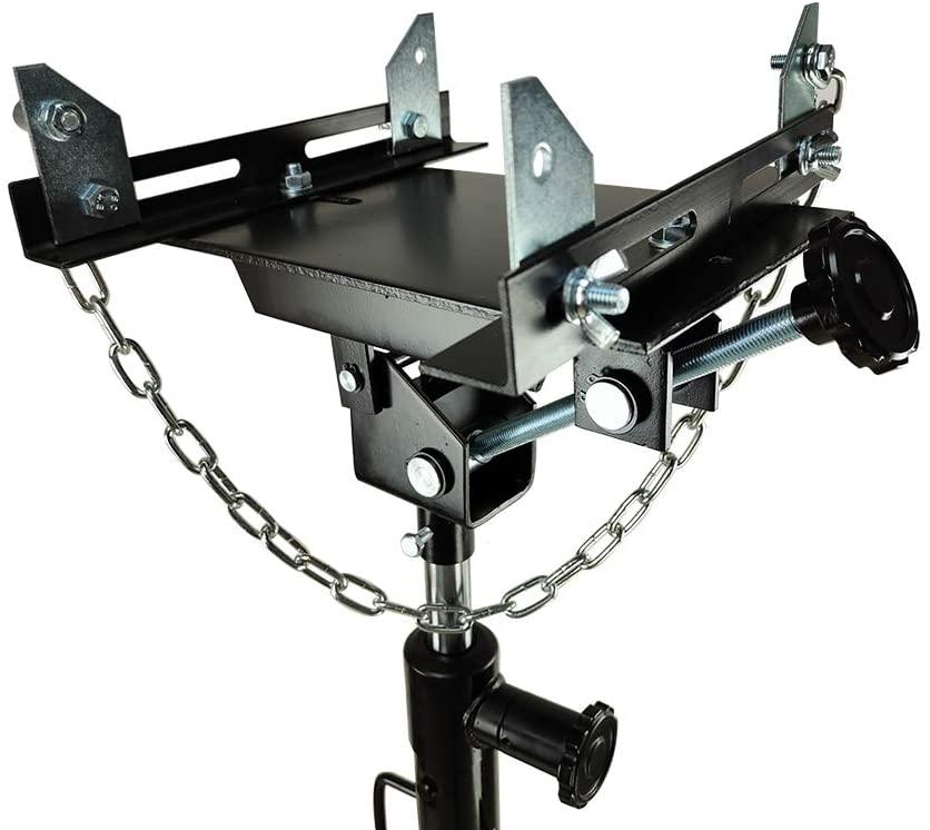 MOTOOS 1/2 Ton Auto Transmission Jack Adapter for All Floor Jack with Saddle Hole Capacity Transform Automotive Floor Jack