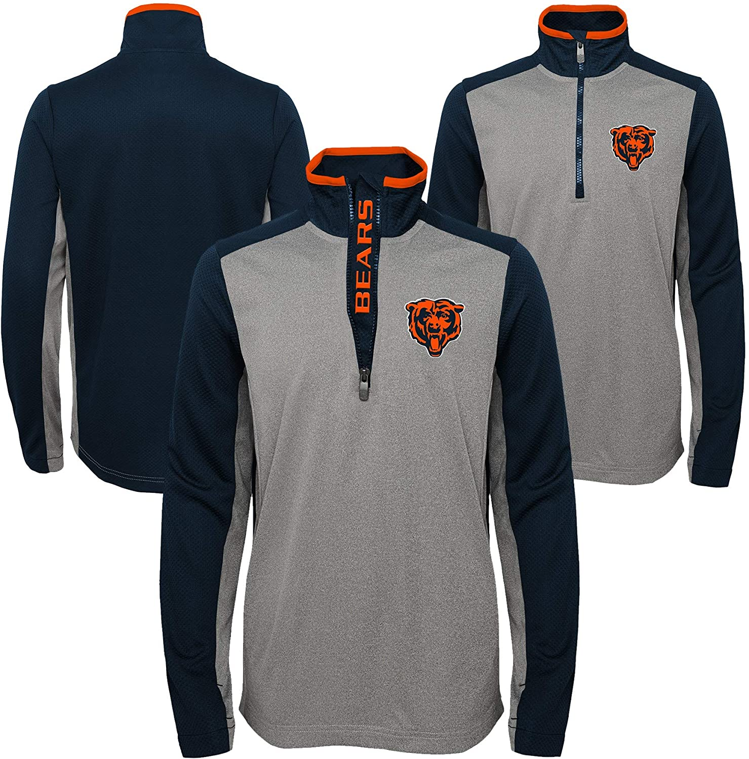 Outerstuff NFL Youth Boys Chicago Bears Matrix 1/4 Zip Top, X-Large