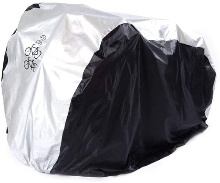 LIOOBO Bike Cover for 2 Bikes Waterproof Anti Dust Rain UV Protection Bicycle Cover for Mountain Bike Road Bike