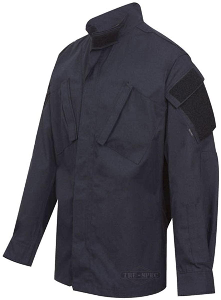 TRU-SPEC 1282027 Tactical Response Uniform Shirt, Polyester Cotton Rip-Stop, XX-Large Long, Navy