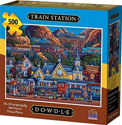 Dowdle Jigsaw Puzzle - Train Station - 500 Piece