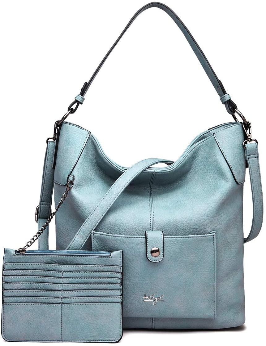 Women Shoulder Handbag Purse Top-Handle Hobo Roomy Casua Ladies' Shoulder Bag Fashion PU Tote Satchel Bag for Women (B-KL5208#H2108#903SKY BLUE)