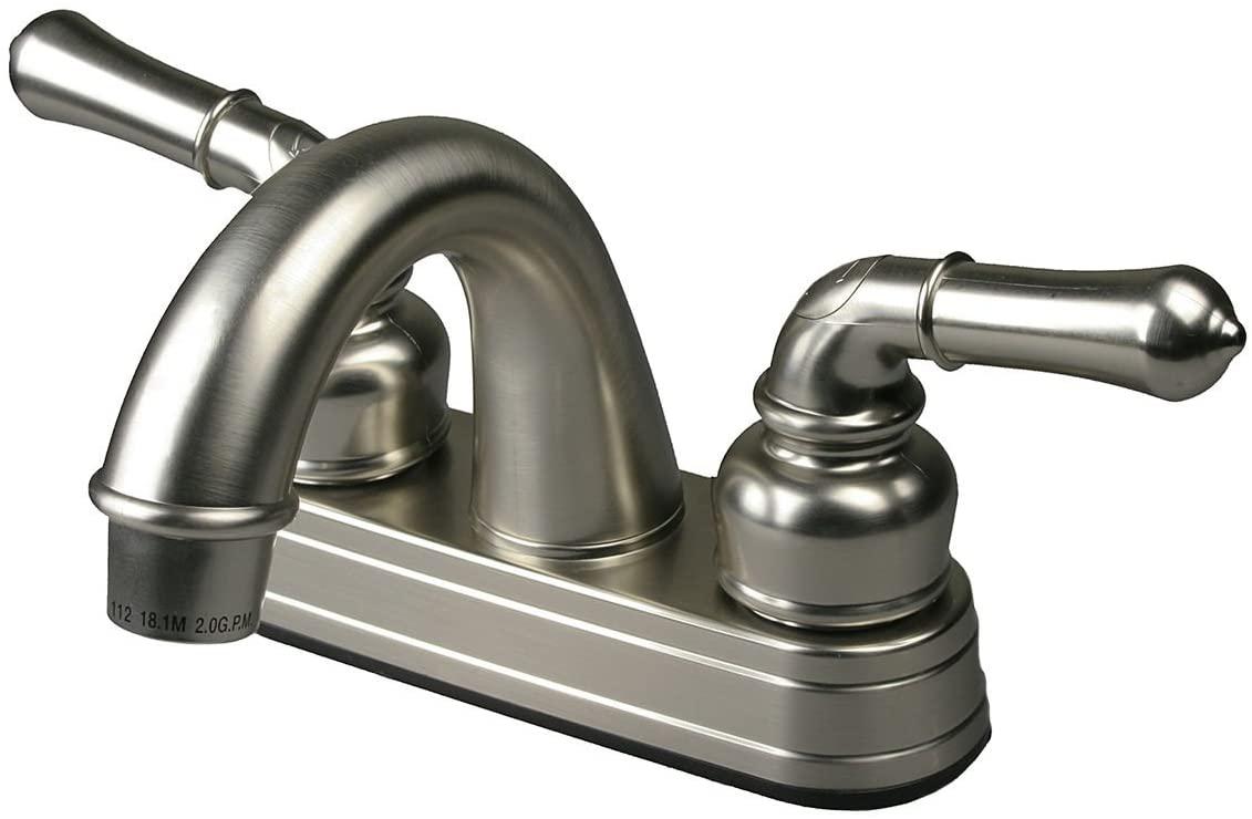 (H&H) New Brushed NickelRV/Mobile Home Motor Travel Vehicle Bathroom Bath Sink Faucet - 1pack