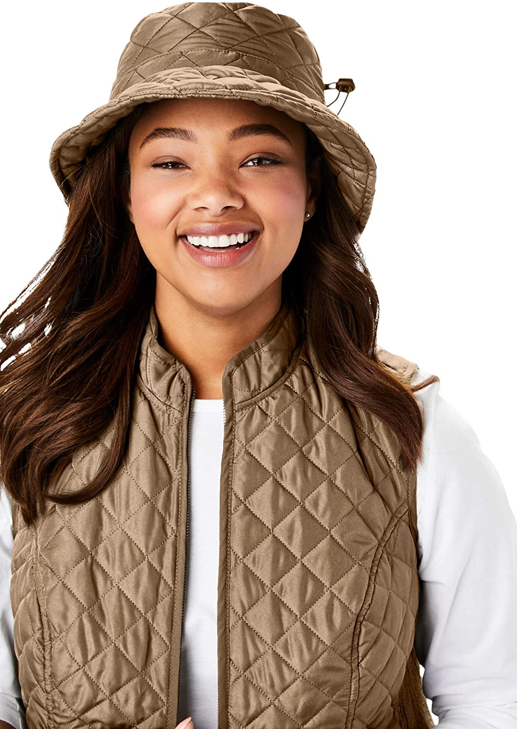 Woman Within Womens Plus Size Quilted Bucket Hat