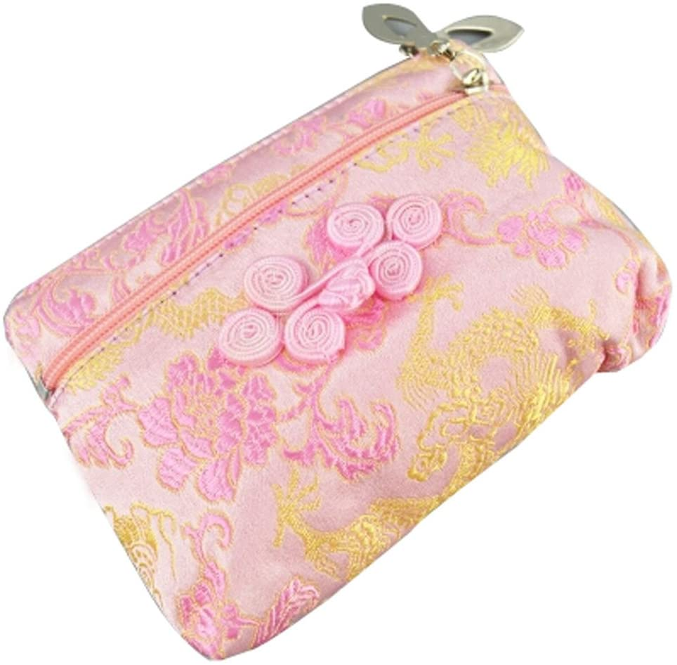 Coin Purse Coin Case Chinese Style Cell Phone Case Cloth Bag Pink