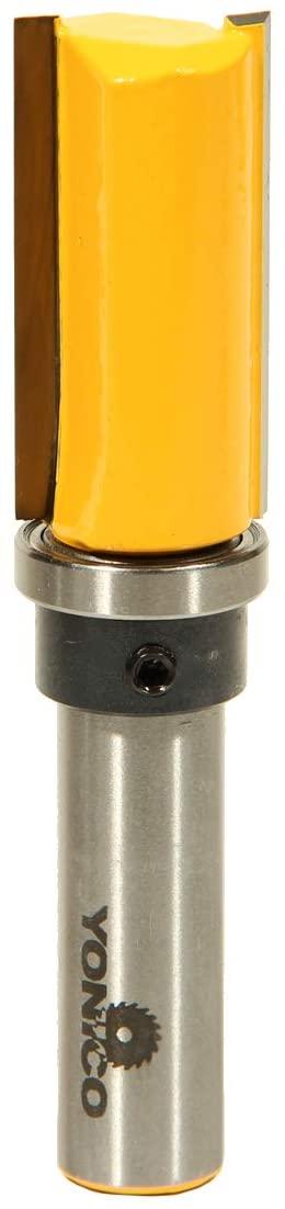 Yonico 14137 3/4-Inch Diameter Flush Trim Template Router Bit 1/2-Inch Shank