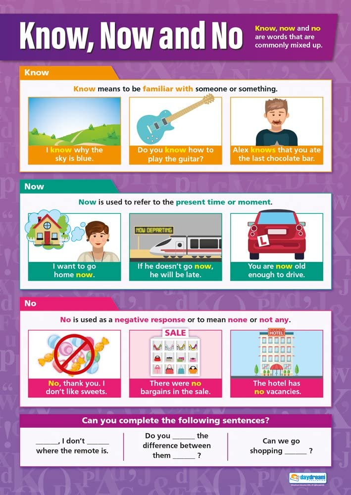 """Know, Now and No 