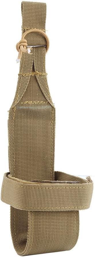 Vbestlife Tactical Molle Bottle Carrier,2 pcs Water Bottle Holder Belt Waterproof Nylon Kettle Pouch with Elastic Hook and Loop Strap