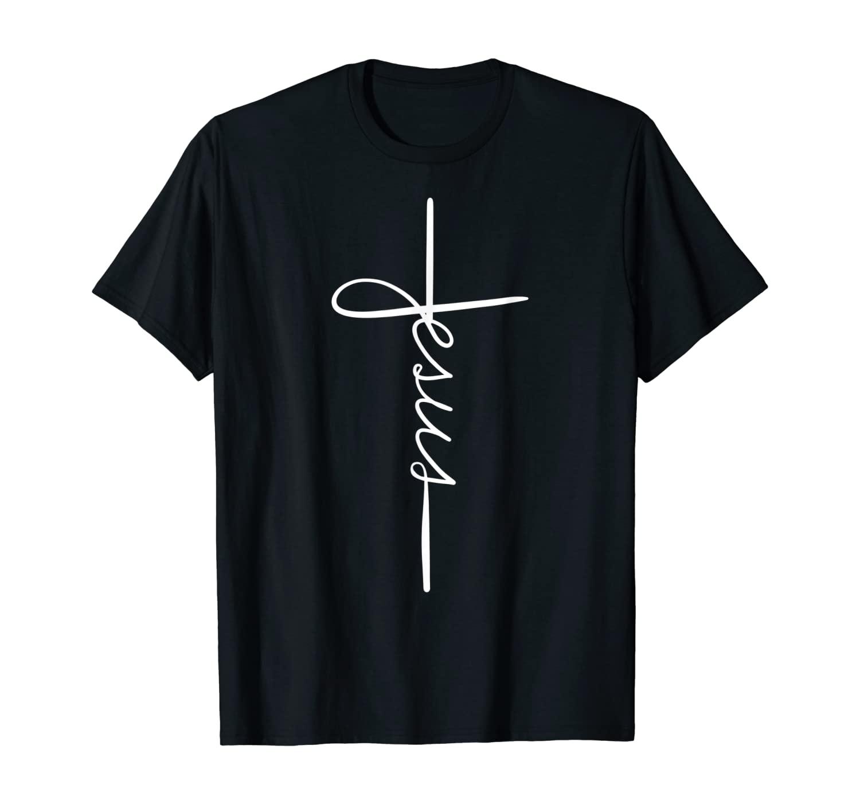 Cool Jesus Cross Gift For Men Women Funny Christian Faith T-Shirt