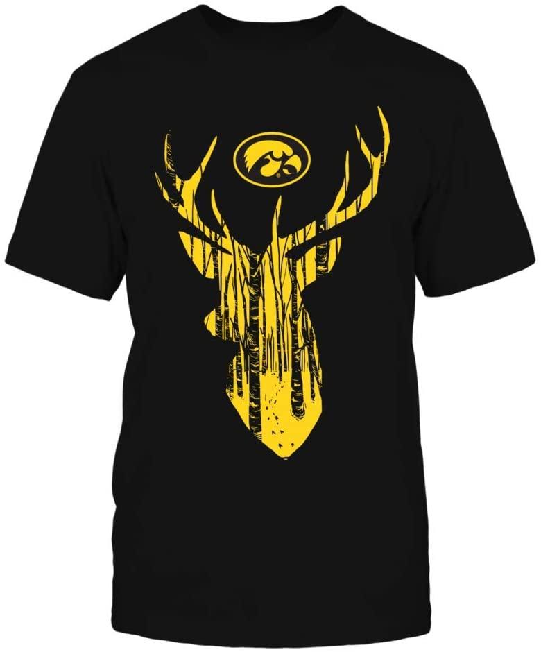 FanPrint Iowa Hawkeyes Hoodie - Hunting Forest Deer