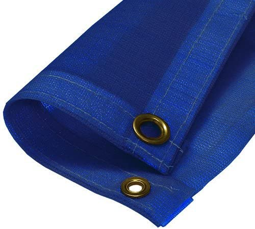 Canopies and Tarps Blue Mesh Tarp 10' X 10' (Finished Size 9'6
