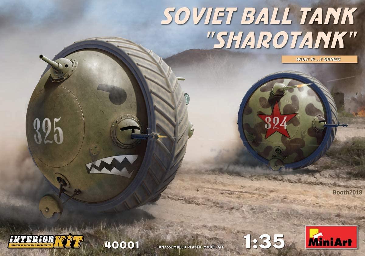 MINIART 40001 Soviet Ball Tank �SHAROTANK� Interior 1/35 Scale Plastic Model KIT