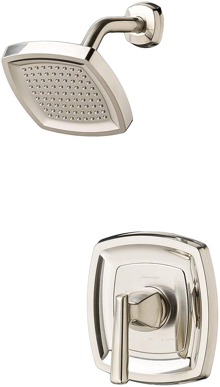 American Standard TU018507.295 Edgemere Trim Kit with Water-Saving Shower Head and Cartridge, Brushed Nickel