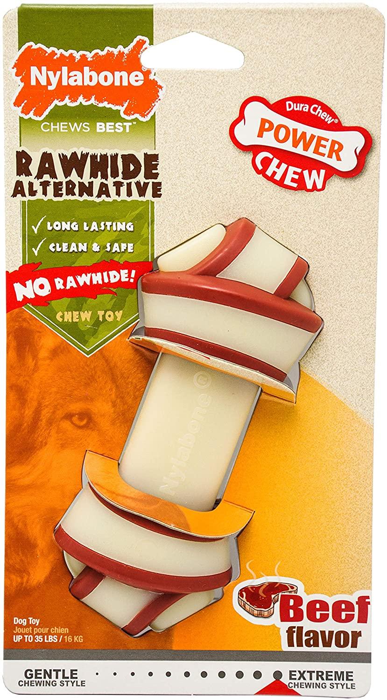 Nylabone Power Chew Rawhide Knot Chew Bone