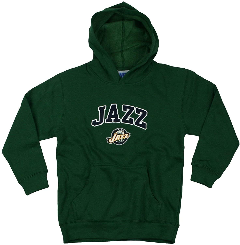 Outerstuff Utah Jazz NBA Basketball Youth Hoodie, Hooded Sweatshirt, Green (X-Small (4-5))