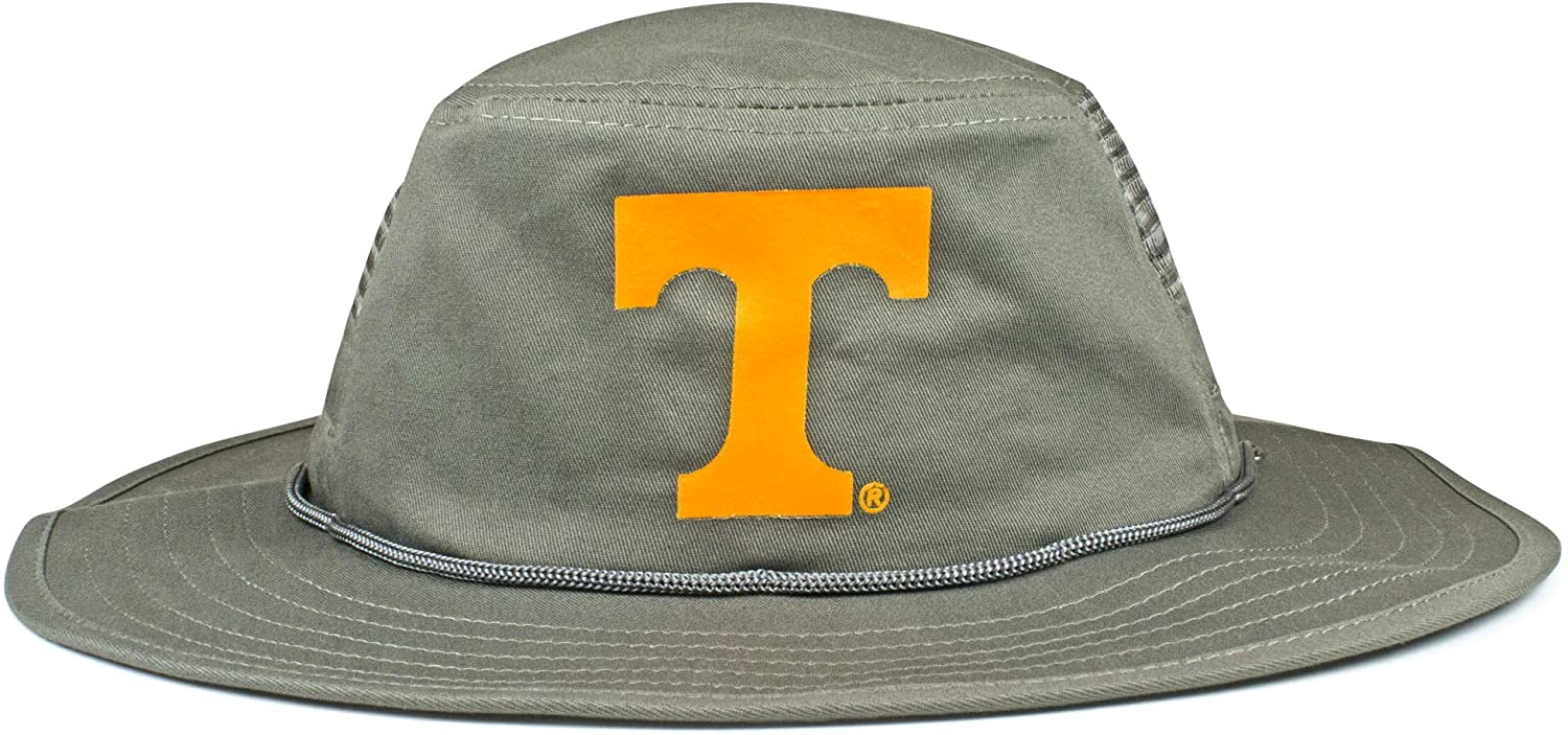 Cowbucker NCAA Mesh Boonie Hat w/Adjustable Chinstrap | Officially Licensed, Gray, One Size
