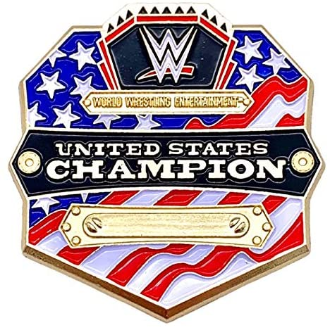 WWE United States Champion Pin- Special Edition American Flag Slam Crate Collectible Pin- Authentic Raw WWE Extremes Championship Belt Pin