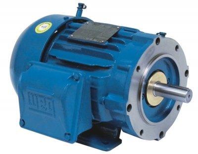 WEG Electric, 00312ST3QIE213TC-W22, 3HP, 1200RPM, 3PH, 460V, 213/5TC Frame, C-Face Flange, Foot Mount, TEFC, IEEE 841 Motor.