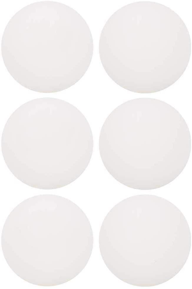 Keenso Ping Pong Balls, 6 Pcs 2 Colors Standard ABS 3 Star Table Tennis Balls Advanced Training