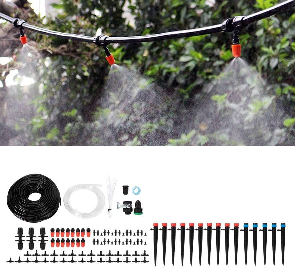Rosvola 40m Garden Irrigation System,4/7 Hose Water Saving Automatic Drip Irrigation Watering Set