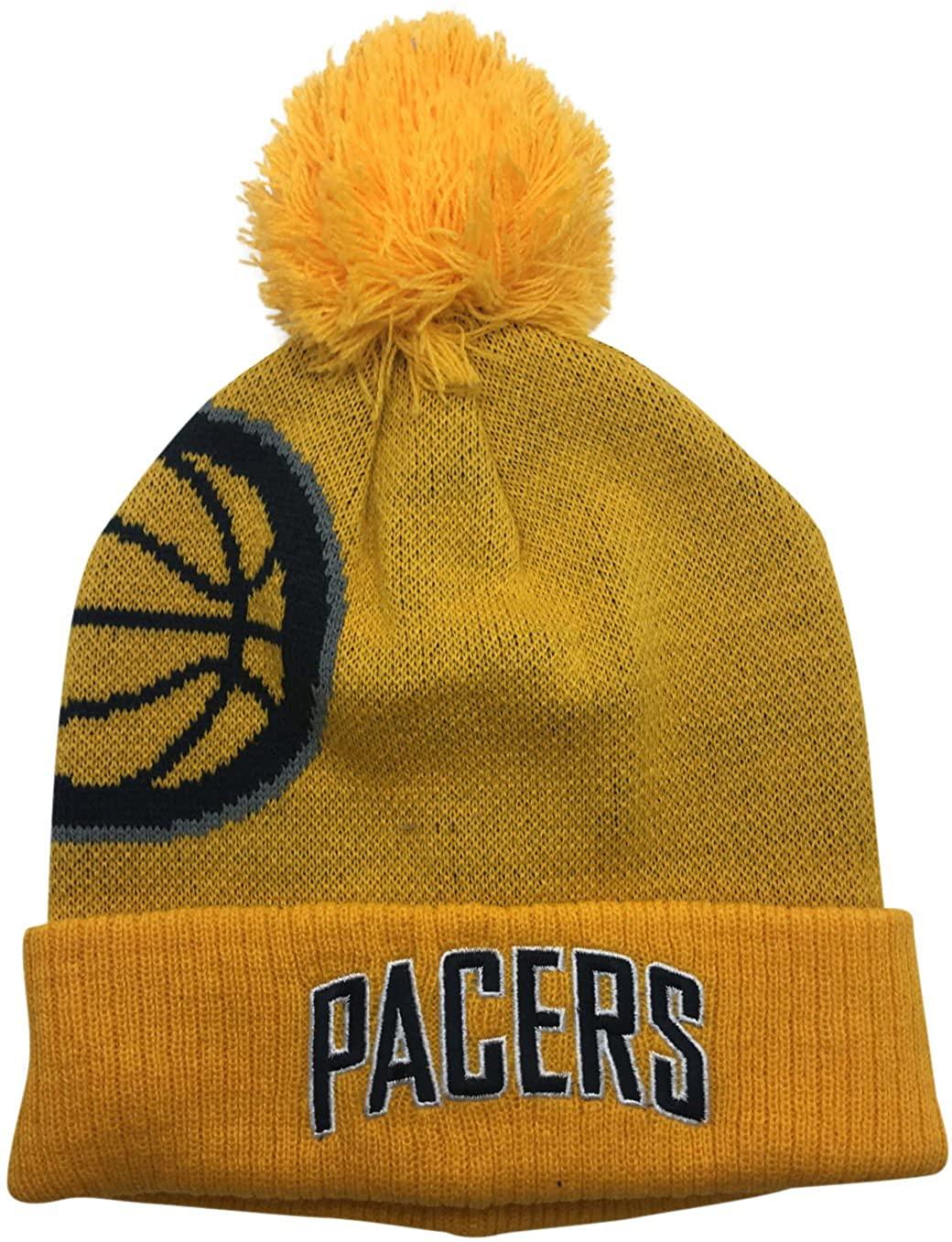 Reebok NBA Indiana Pacers POM Knit Beanie Hat Yellow