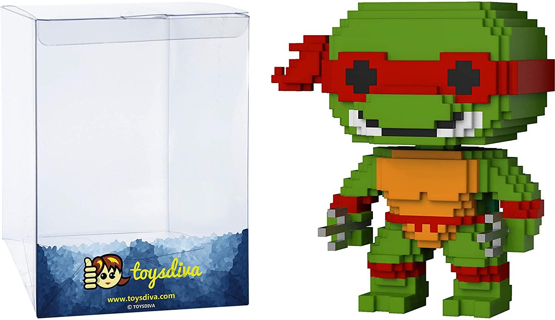 Raphael: Funko Pop! 8-bit Vinyl Figure Bundle with 1 Compatible 'ToysDiva' Graphic Protector (006 - 22984 - B)