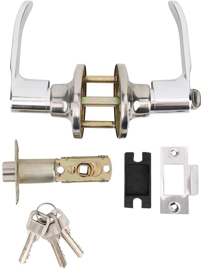 Lock Handle Set, Zinc Alloy Handle Single Deadbolt Lock, Suitable for Commercial and Residential