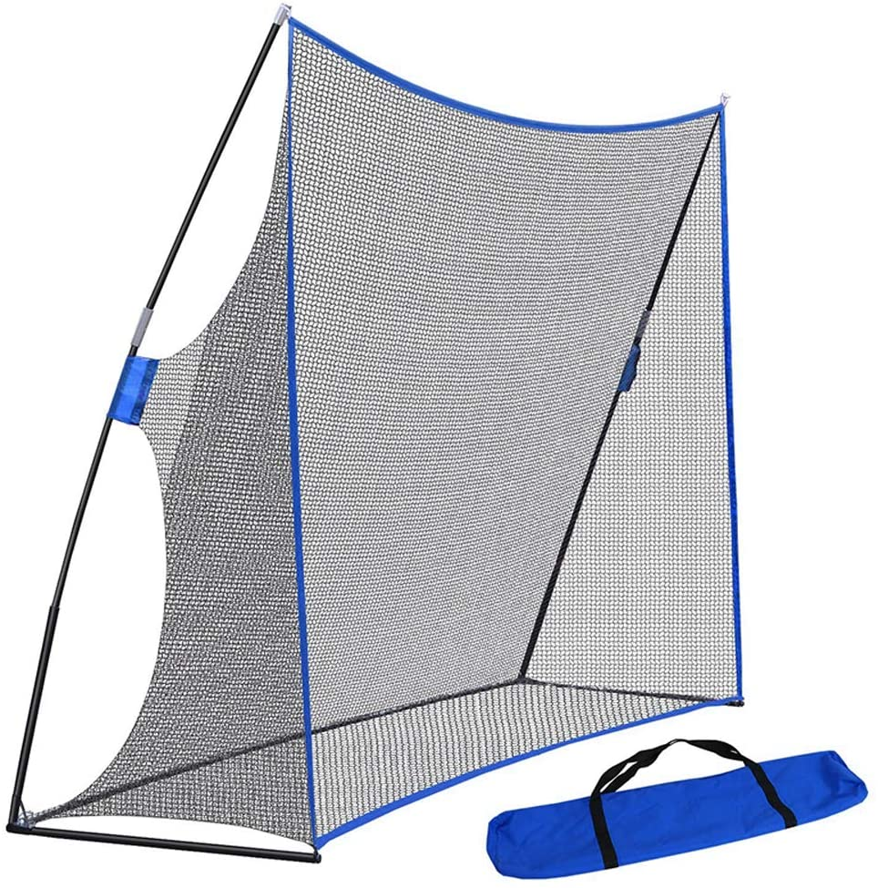 DYRABREST Golf Practice Net, 10 x 7FT Portable Golf Training Aid Practice Net Hitting Driving Training Aids with Carry Bag - Men Kids Sports Game for Backyard, Outdoor, Home Use