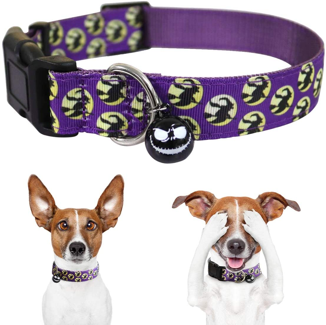 PEDOMUS Pet Christmas Cat Dog Collar with Bow Tie for Adjustable 100% Cotton Nylon Red for Dogs Cats Size XS/S/M/L