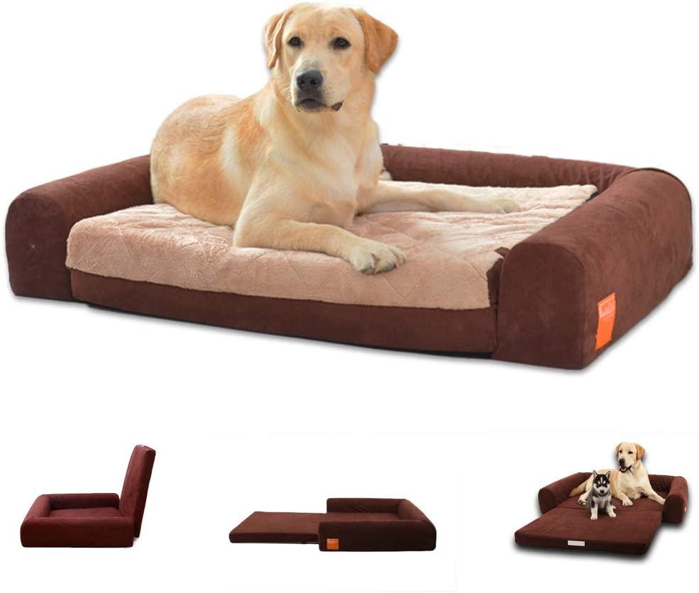 Laifug Orthopedic Memory Foam Folding Pet Bed Chocolate (Large 40