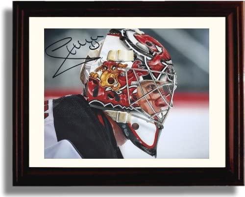 Framed Johan Hedberg Autograph Replica Print - New Jersey Devils