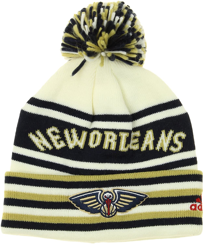 NBA Youth Boys Cuffed Knit Hat with Pom, Team Options