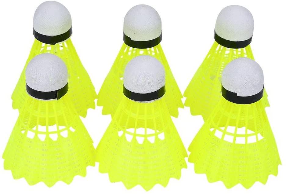 Delaman Badminton Set Professional Nylon Badminton Ball Shuttlecock Outdoor Sports Training Accessory 6Pcs/Set