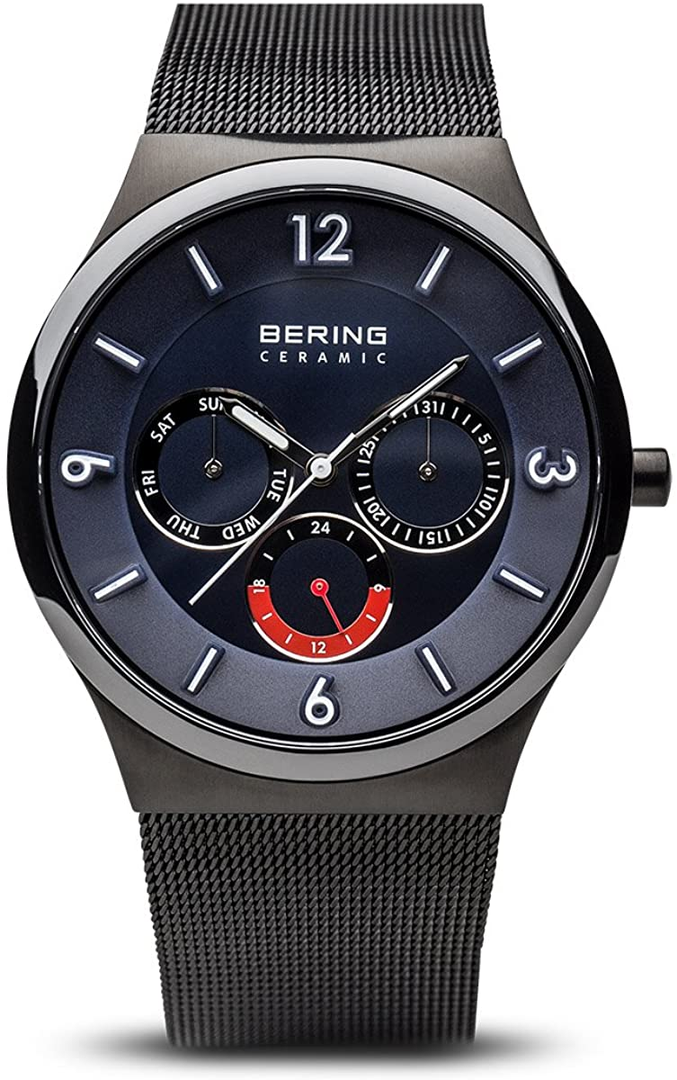 BERING Time | Men's Slim Watch 33440-227 | 40MM Case | Ceramic Collection | Stainless Steel Strap | Scratch-Resistant Sapphire Crystal | Minimalistic - Designed in Denmark
