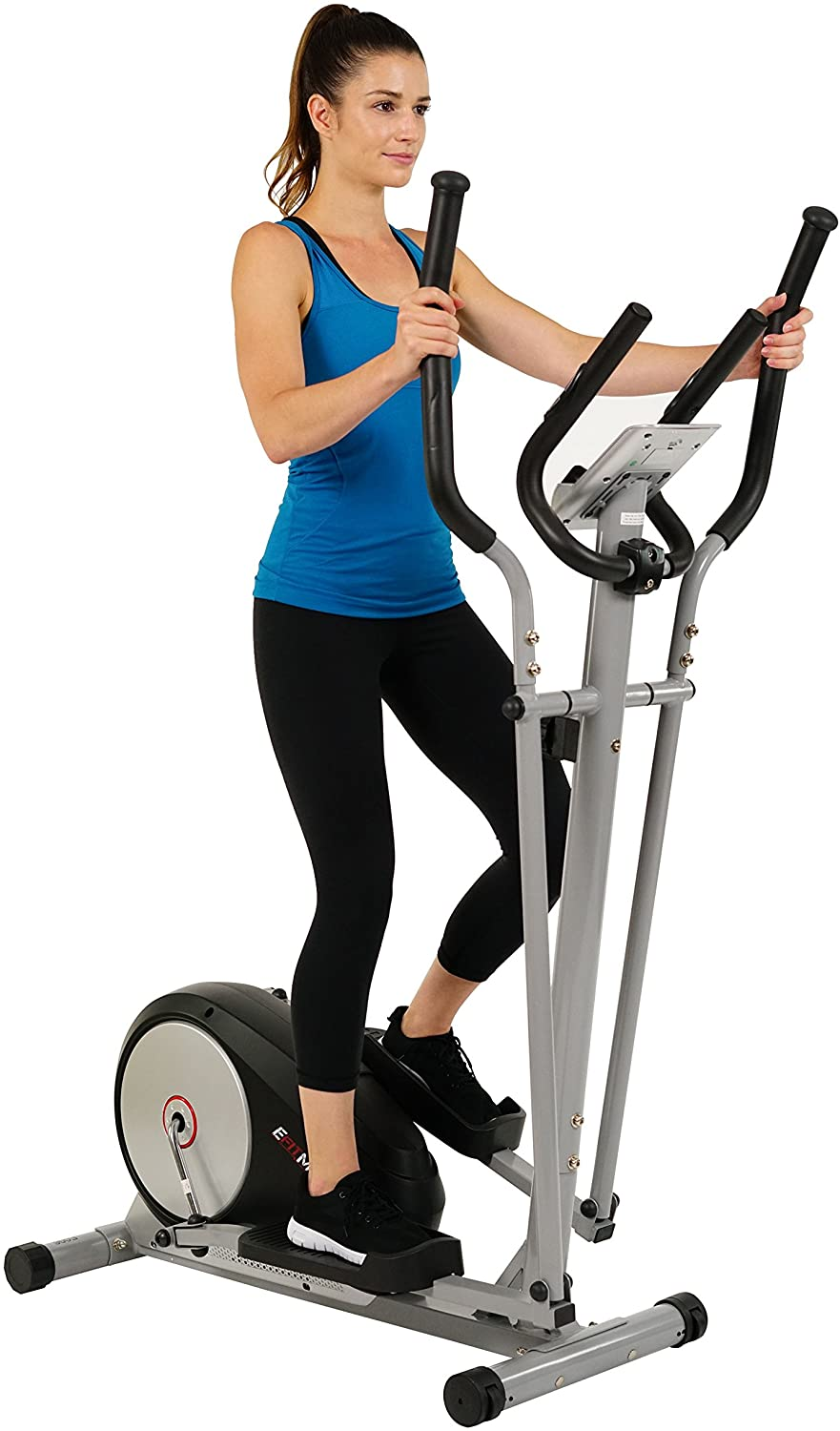 EFITMENT Magnetic Elliptical Machine Trainer w/LCD Monitor and Pulse Rate Grips