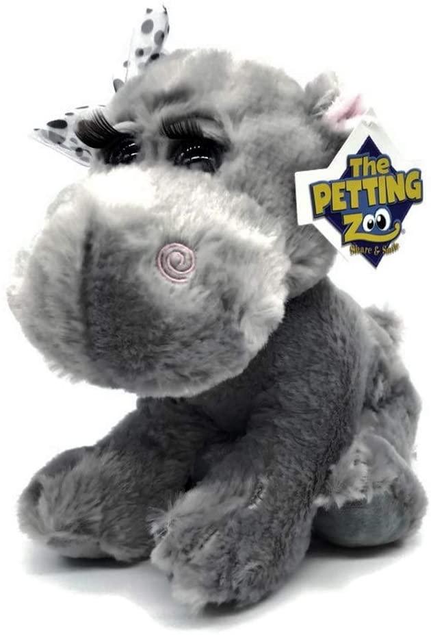 The Petting Zoo - Lashz Stuffed Hippo - Great Stuffed Animal for Baby/Toddlers/Kids - Boys & Girls