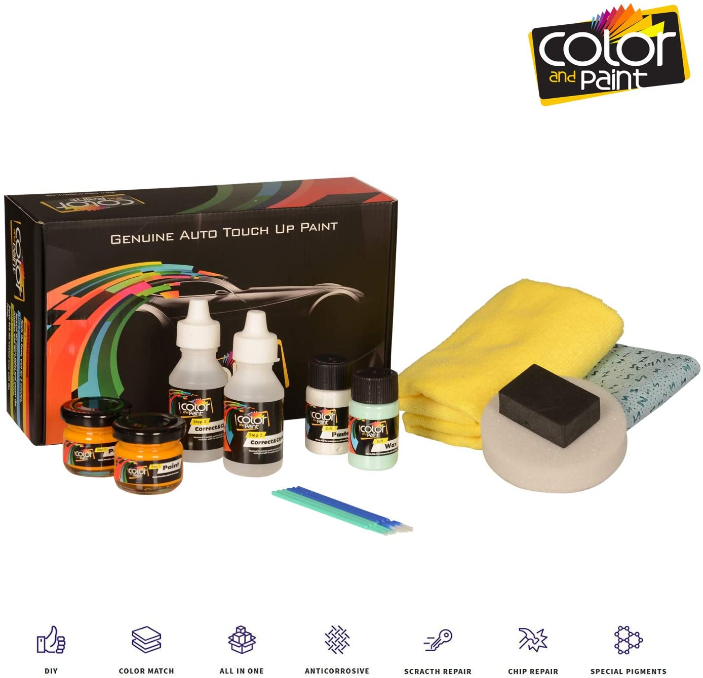 Audi RS6 / Panther Black Crystal - LZ9Z / Color and Paint Touch UP Paint System for Paint Chips and Scratches/Basic Care