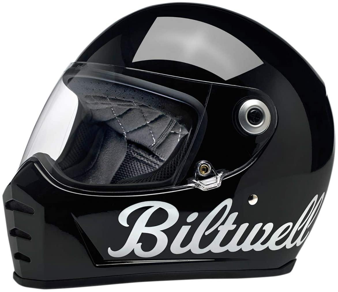 Biltwell Lane Splitter Helmet - Factory (XX-Large) (Gloss Black)