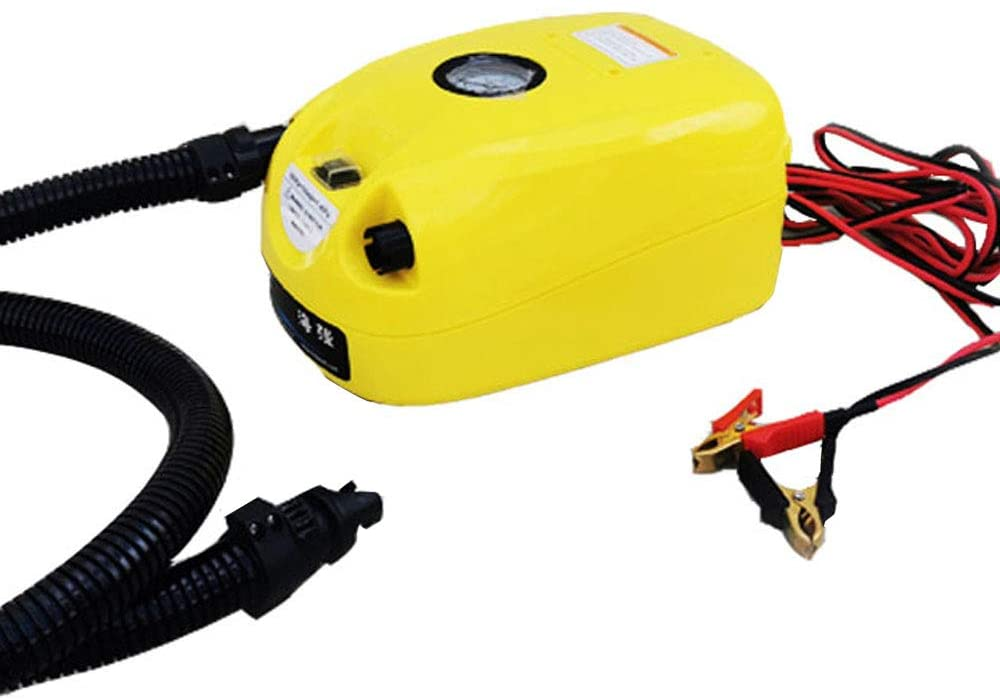 Poafamx Electric High Pressure Air Pump Inflate Exhaust Dual Purpose Portable 12V for Assault Rescue Fishing Rubber Boat Canoe Kayaking Compression Bag (No adjustment)
