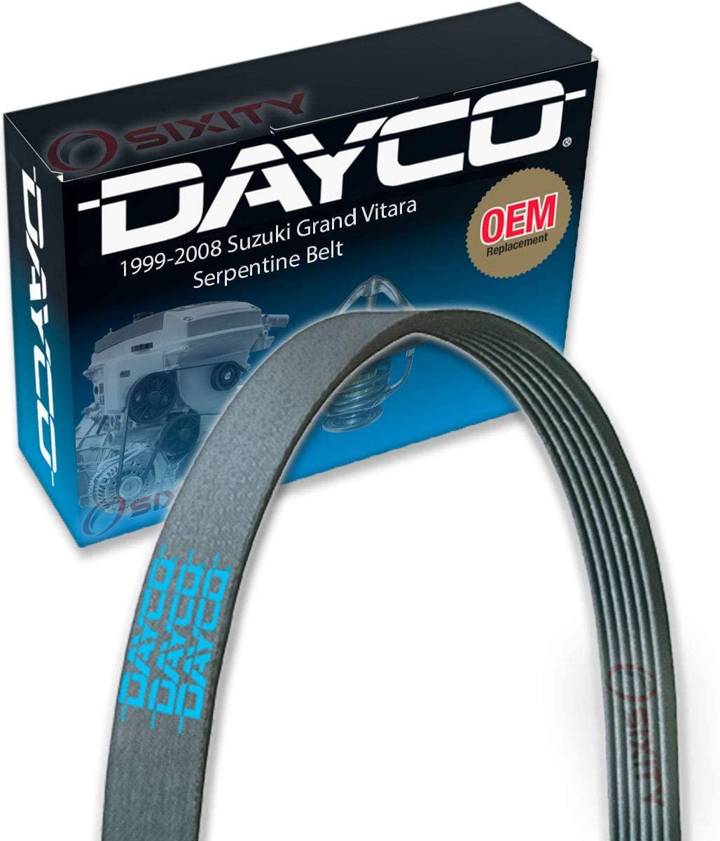 Dayco Serpentine Belt for 1999-2008 Suzuki Grand Vitara 2.7L V6 - V Belt Ribbed Accessory Drive